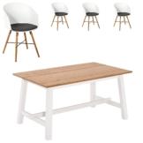 Essgruppe Holsted/Hvam (95x160, 4 Stühle, weiß)