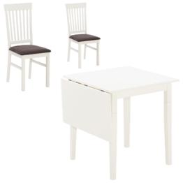 Essgruppe Lakolk (75x75, 2 Stühle, Zusatzplatte)