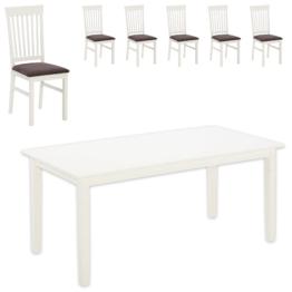 Essgruppe Lakolk (90x180, 6 Stühle)