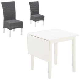 Essgruppe Lakolk/Rio (75x75, 2 Stühle, grau)