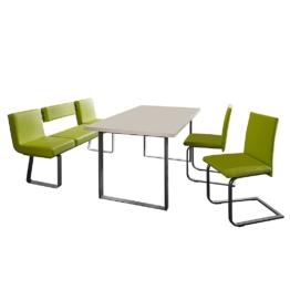 Essgruppe Lamar (4-teilig) - Grün / Edelstahl, loftscape
