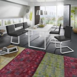 Essgruppe Lamar (4-teilig) - Schwarz / Weiß, loftscape