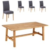 Essgruppe Lendrup/Holeby (95x200, 4 Stühle, grau)