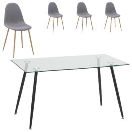 Essgruppe Nordborg/Tinglev (80x140, 4 Stühle)