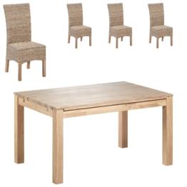 Essgruppe Nordic Oak/Rio (140x95, 4 Stühle, natur)