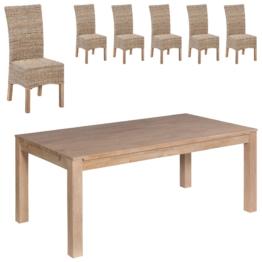 Essgruppe Nordic Oak/Rio (175x95, 6 Stühle, natur)