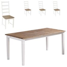 Essgruppe Paris (140x85, 4 Stühle)
