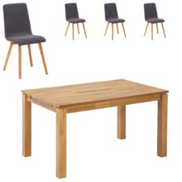 Essgruppe Royal Borg/Marstal (90x140, 4 Stühle, anthrazit)