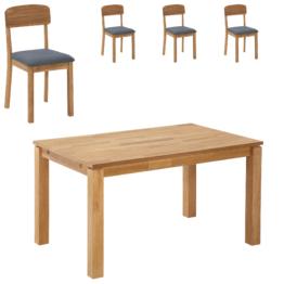 Essgruppe Royal Borg/Solbjerg (90x140, 4 Stühle, grau)