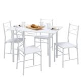 Essgruppe Saint-Denise mit vier Stühlen - Weiß, California