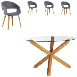 Essgruppe Saskia/Holstebro (ø 118,5, 4 Stühle)