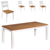 Essgruppe Skagen (140x90, 4 Stühle)