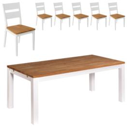Essgruppe Skagen (180x90, 6 Stühle)