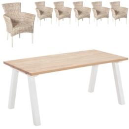 Essgruppe Stouby/Hirtshals (180x90, 6 Stühle)