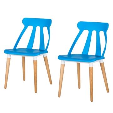 Esszimmerstuhl Acade (2er-Set) - Kunststoff - Hellblau, loftscape