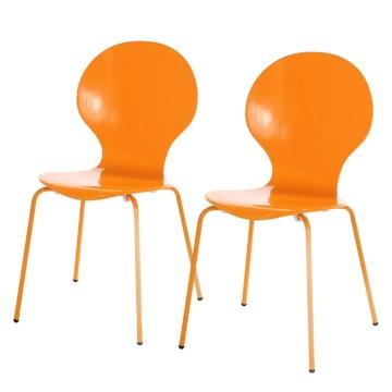 Esszimmerstuhl Bristol II (2er-Set) - Orange, mooved