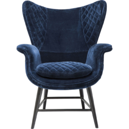 Sessel Tudor blau Velvet