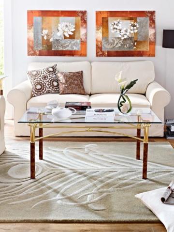 Sofa 2-Sitzer natur