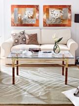 Sofa 3-Sitzer, (2 geteilt) Natur