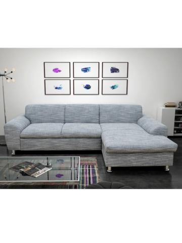 sofa salzburg wahlweise mit schlaffunktion domo grau. Black Bedroom Furniture Sets. Home Design Ideas