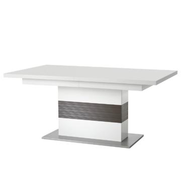 Esstisch Arco (mit Ausziehfunktion) - Weiß / Grau, loftscape