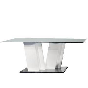 Esstisch Cross I - Glas/Hochglanz Weiß, Sciae