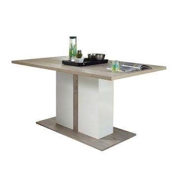 Esstisch Lambda - Silbereiche Dekor/Weiß, loftscape