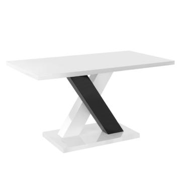 Esstisch Roulette - Weiß/Schwarz, Home Design