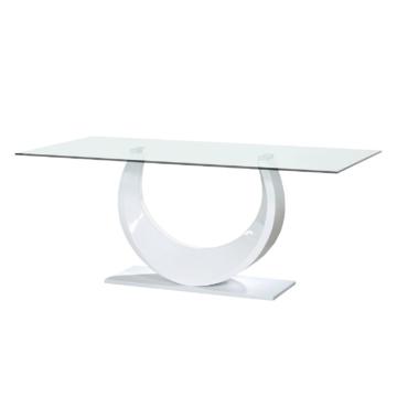Esstisch Smooth - Glas - Hochglanz Weiß, Sciae