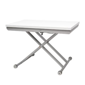 Esstisch Tasus - Weiß/Silber, roomscape
