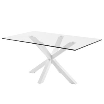 Esstisch Zuccarello IV - Glas / Stahl - Weiß, Fredriks