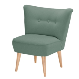 Sessel Bumberry Webstoff - Babyblau