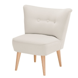 Sessel Bumberry Webstoff - Creme