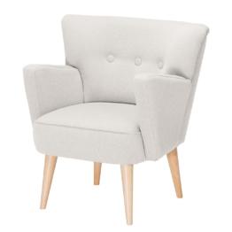 Sessel Bumberry Webstoff - Weiß