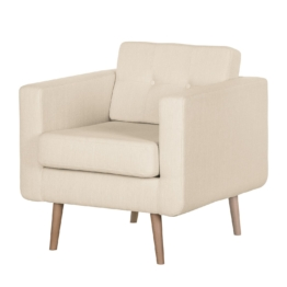 Sessel Croom V Webstoff - Ohne Hocker - Creme