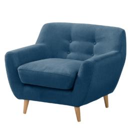 Sessel Rometta - Microfaser - Jeansblau