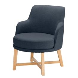 Sessel Siabu Strukturstoff - Dunkelblau