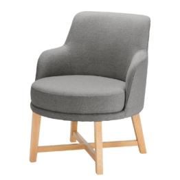 Sessel Siabu Strukturstoff - Grau