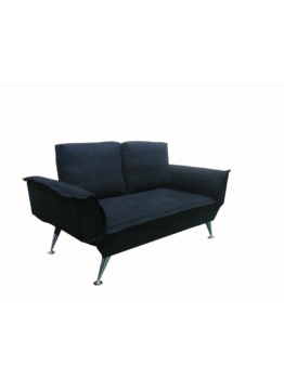 pfiffiges Schlafsofa 2er Sofa Cats Collection schwarz