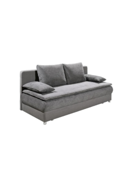 Schlafsofa Funktionssofa Bettsofa grau mit Bettkasten Cats Collection grau