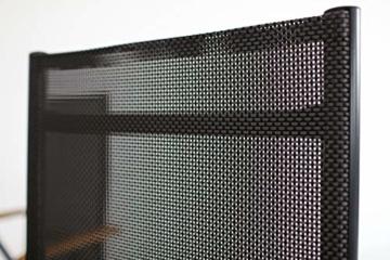 Ambientehome Aluminium Luxus Klappstuhl 2er Set Hochlehner Gartensessel Aluminiumsessel 4x4 Textilen Armlehnen aus Akazie schwarz - 7