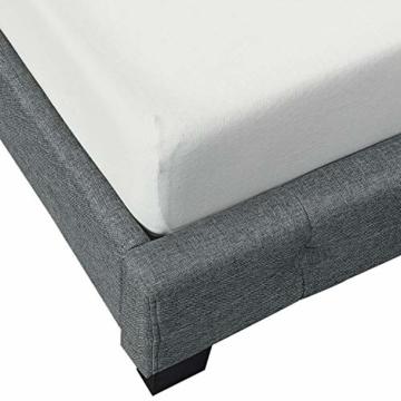 ArtLife Polsterbett Manresa 140 x 200 cm - Bett mit Lattenrost und Kopfteil - Zeitloses modernes Design, Grau - 7