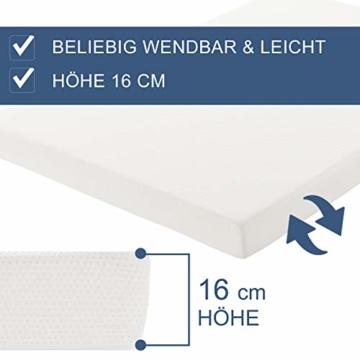 ArtLife Polsterbett Murcia 140 x 200 cm Komplett-Set mit Matratze, Lattenrost, LED-Licht, Kopfteil - Kunstleder Bett - groß, massiv, modern & weiß - 6