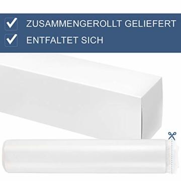 ArtLife Polsterbett Murcia 140 x 200 cm Komplett-Set mit Matratze, Lattenrost, LED-Licht, Kopfteil - Kunstleder Bett - groß, massiv, modern & weiß - 7
