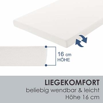 ArtLife Polsterbett Sevilla 140 x 200 cm - Bett mit Matratze, Lattenrost & LED – Holz & Kunstleder - grau – Jugendbett Gästebett Einzelbett - 7