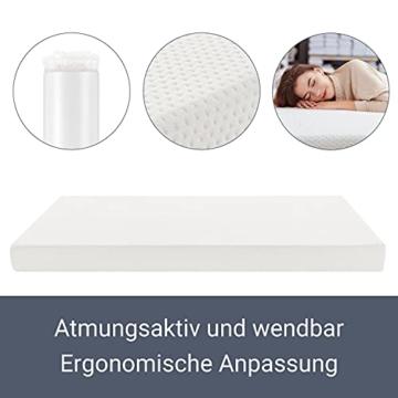 ArtLife Polsterbett Verona 120 × 200 cm - Bett komplett mit LED-Beleuchtung, Matratze und Lattenrost - Kunstleder Bezug - schwarz – Jugendbett - 7