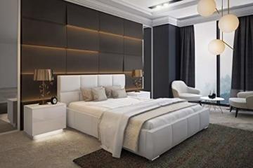 Bett Doppelbett SARA mit Lattenrost aus Metallrahmen und Bettkasten Polsterbett Bettgestell Schlafzimmer (180 x 200 cm) - 3
