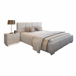 Bett Doppelbett SARA mit Lattenrost aus Metallrahmen und Bettkasten Polsterbett Bettgestell Schlafzimmer (180 x 200 cm) - 1