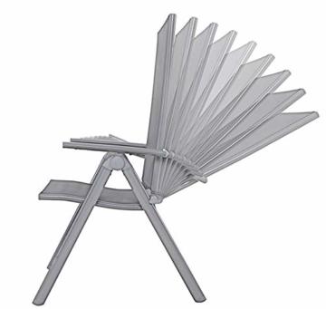 Chicreat Campingstuhl mit hoher Rückenlehne, Aluminium - Silber/Schwarz - 3
