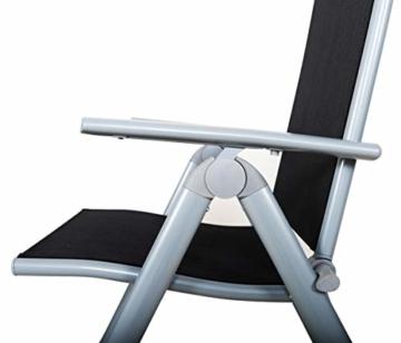 Chicreat Campingstuhl mit hoher Rückenlehne, Aluminium - Silber/Schwarz - 4
